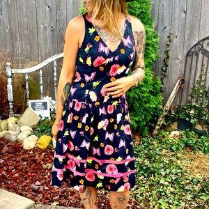 Rickie Freeman Teri Jon Butterfly & bow sun dress